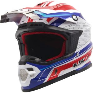 Capacete LS2 Orbit do rally para o off road